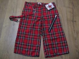 3/4ťové kraťasové nohavice Škótske káro TARTAN pánske aj dámske 100%bavlna