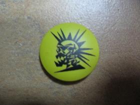 punk smrtka odznak priemer 25mm