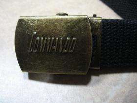 Commando industries  plátený opasok s posuvnou nastaviteľnou prackou s vyrazeným logom, univerzálna veľkosť