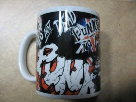 Punks not Dead porcelánový pohár - šálka s uškom, objemom cca. 0,33L
