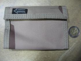 Maskáčová textilná peňaženka vzor DESERT so zapínaním na suchý zips bez retiatky, materiál 100% polyester