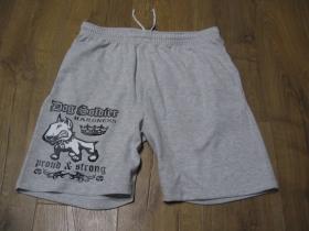 Dog Soldier teplákové kraťasy s tlačeným logom