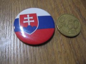 Slovensko - Slovakia väčší odznak s priemerom  3,5cm