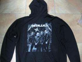 Metallica mikina na zips s kapucou stiahnuteľnou šnúrkami