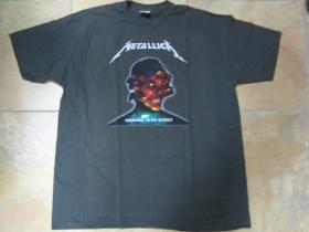 Metallica  šedé pánske tričko 100%bavlna