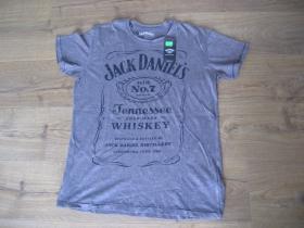 Jack Daniels pánske šedé tričko materiál 100% bavlna   posledný kus veľkosť M