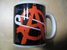Anarchy porcelánový pohár - šálka s uškom, objemom cca. 0,33L