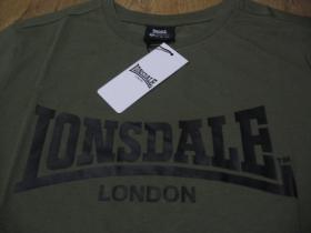 Lonsdale olivové pánske tričko s tlačeným logom materiál 100%bavlna