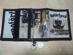 Motorhead, hrubá pevná textilná peňaženka s retiazkou a karabínkou