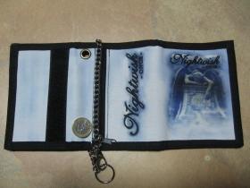 Nightwish, hrubá pevná textilná peňaženka s retiazkou a karabínkou
