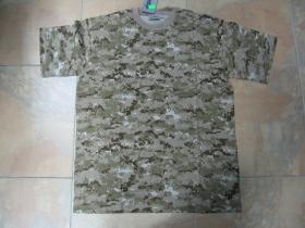 pánske maskáčové tričko vzor ACU Desert Digital materiál 100%bavlna