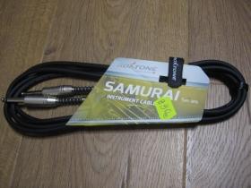 """Samurai Kábel na elektrickú gitaru, alebo basgitaru s kocovkami """" jack-jack """" farba čierna, dĺžka 3metre"""