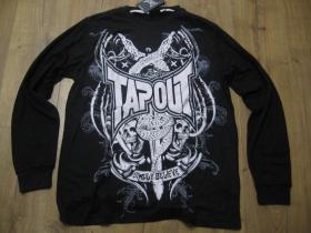 Tapout čierne pánske tričko s dlhým rukávom materiál 52%bavlna  48%polyester posledné kusy veľkosti L, XL
