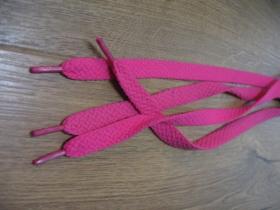 krikľavo ružové tenšie ploché šnúrky do topánok dĺžka 110cm šírka 1cm materiál:100%polyester