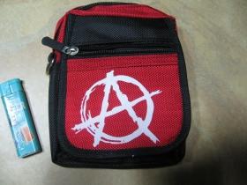Anarchy  červenočierna taštička na opasok