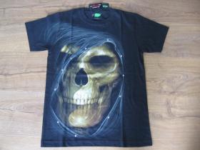"""Smrtka - lebka """" TATTOO """" čierne pánske vybíjané tričko """" Full Print """" materiál 100% bavlna posledný kus vo veľkosti S."""