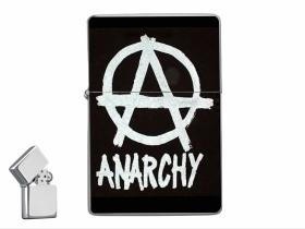 Anarchy doplňovací benzínový zapalovač s vypalovaným obrázkom (balené v darčekovej krabičke)