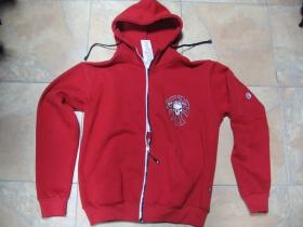 Hooligan TEMPLAR hrubá pánska mikina, červená 80%bavlna 20%polyester-pohľad spredu