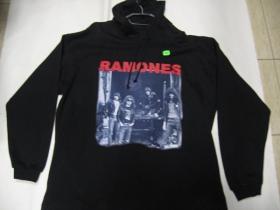 Ramones, čierna mikina s kapucou 65%bavlna 35%polyester