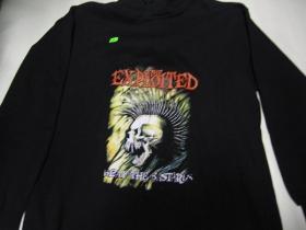 Exploited, čierna mikina 65%bavlna 35%polyester
