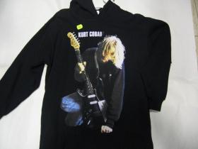 Kurt Cobain Čierna,pánska mikina s kapucňou 80%bavlna 20%polyester