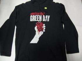 Green Day  čierna pánska mikina s kapucou 80%bavlna 20%polyester