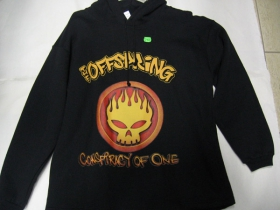 Offspring  čierna pánska mikina s kapucou 80%bavlna 20%polyester