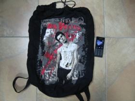 Sex Pistols sťahovací plátený  batoh s polyesterovámi širokými popruhami vzadu pre nasadenie nachrbát, rozmery cca. 60x40cm  materiál 100%bavlna