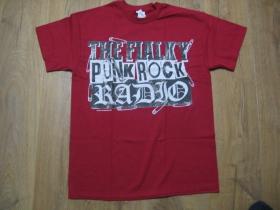 The Fialky Punk rock Radio červené pánske tričko 100%bavlna