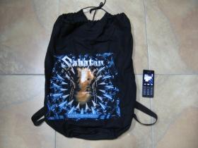Sabaton sťahovací plátený  batoh s polyesterovámi širokými popruhami vzadu pre nasadenie nachrbát, rozmery cca. 60x40cm  materiál 100%bavlna