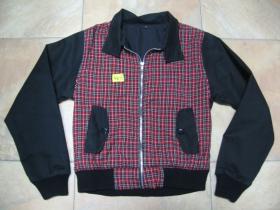 Dámska bunda HARRINGTON škótske káro, červenočierna 100%bavlna