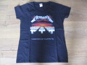 Metallica čierne dámske tričko materiál 100% bavlna