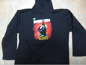 Green Day  čierna pánska mikina s kapucou 100%bavlna