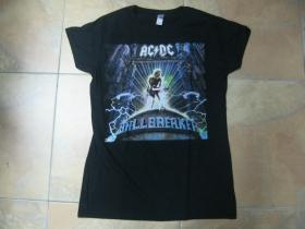 AC/DC čierne dámske tričko 100%bavlna