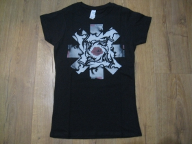 Red Hot Chili Peppers čierne dámske tričko materiál 100% bavlna