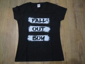 Fall Out Boy čierne dámske tričko materiál 100% bavlna