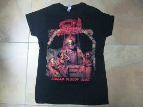 Death  čierne dámske tričko 100%bavlna