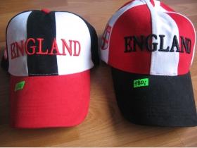 Šiltovka England s červeným a čiernym šiltom  100%bavlna nastaviteľná veľkosť (skladom už iba model s červeným šiltom!!!!)