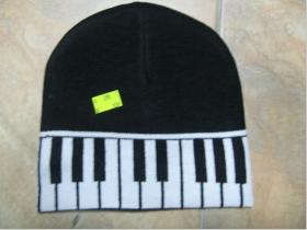 Zimná čiapka - klávesy  100%akryl  univerzálna veľkosť
