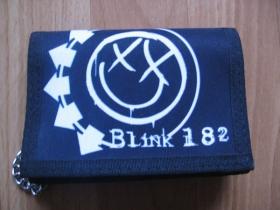 Blink 182  hrubá pevná textilná peňaženka s retiazkou a karabínkou