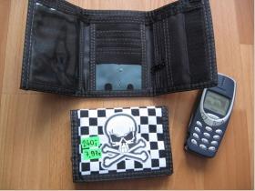 SKA so smrtkou, pevná textilná peňaženka
