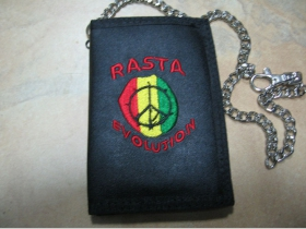 Rasta Evolution pevná textilná peňaženka s retiazkou a karabínkou