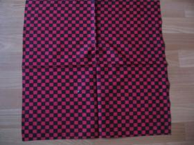 Šatka SKA červeno-čierna, 52x52cm 100%bavlna