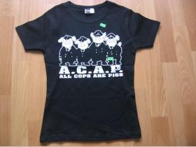 A.C.A.P.  čierne dámske tričko 100%bavlna