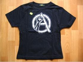 Áčko  čierne dámske tričko 100%bavlna