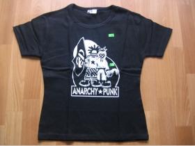 Anarchy Punk  čierne dámske tričko 100%bavlna