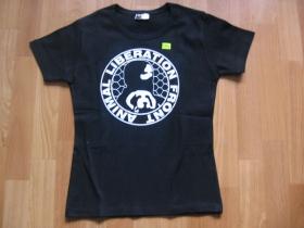 ANIMAL LIBERATION FRONT čierne dámske tričko 100%bavlna