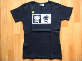 ,,Dve smrtky''  čierne dámske tričko 100%bavlna
