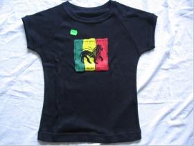 Rasta  čierne dámske tričko 100%bavlna