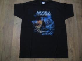 Avantasia čierne pánske tričko materiál 100% bavlna